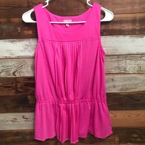 Lilly Pulitzer Conley Peplum Top Mambo Pink